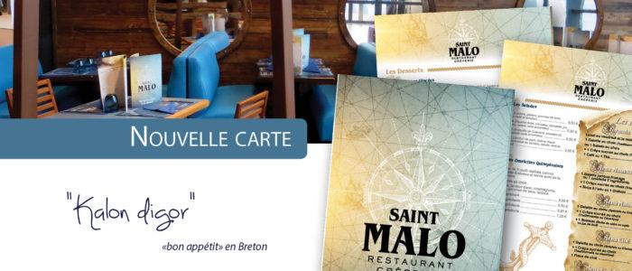 St Malo - Nouvelle Carte