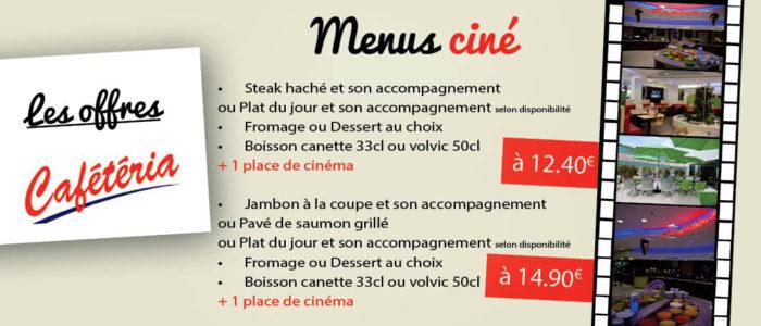 Menu ciné Cafeteria