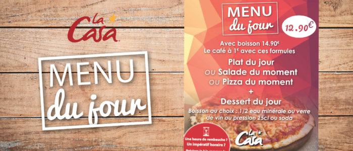 CASA PIZZA - Le menu du jour