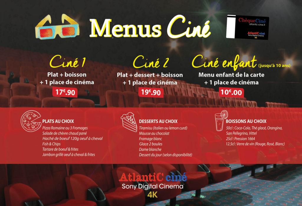 menu ciné carte 2018