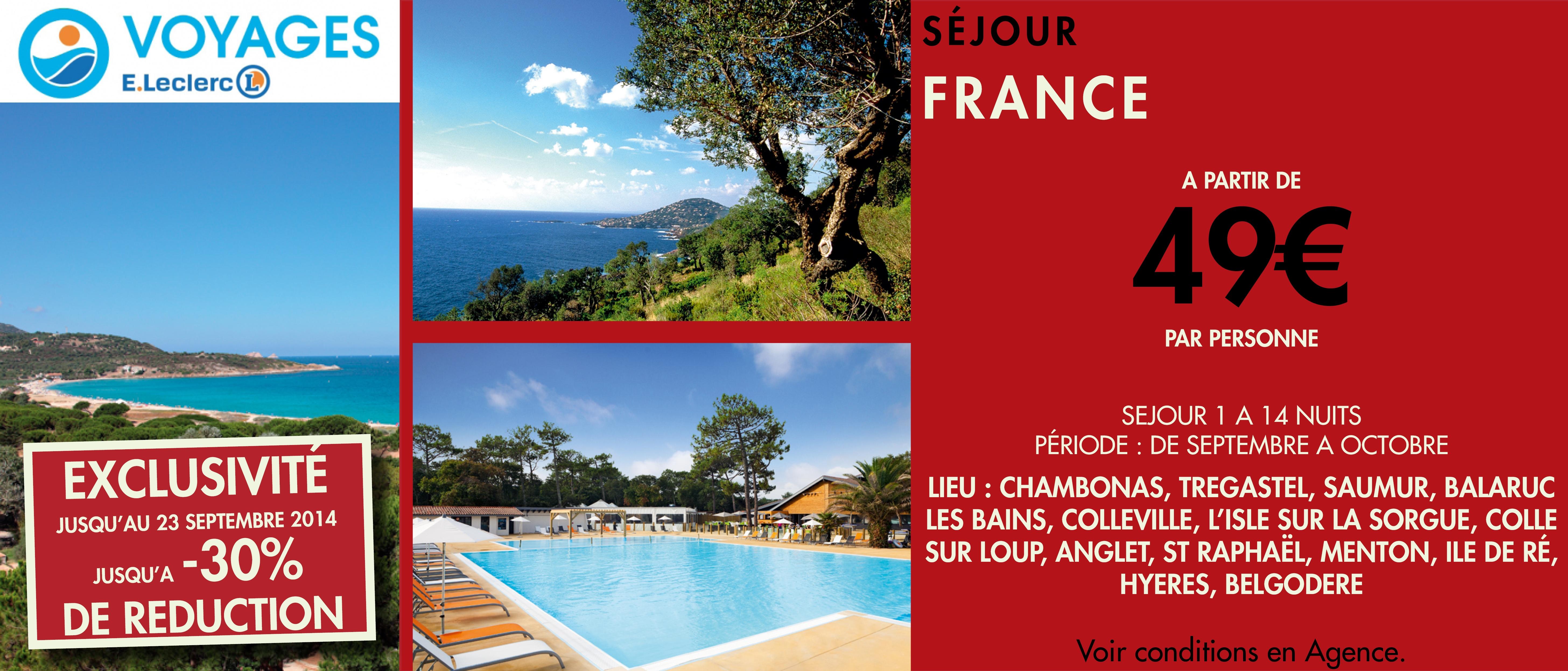 Brochure voyage les coteaux centre commercial leclerc for Leclerc brochure
