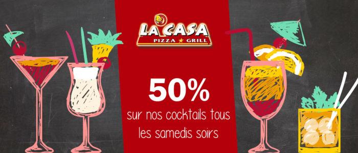 CASA PIZZA - 50% sur les cocktails