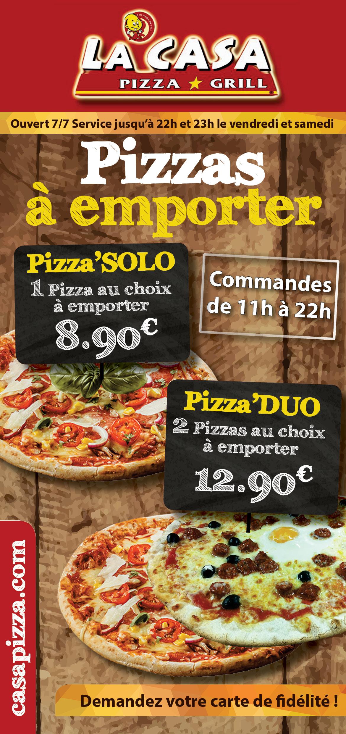 casa pizza pizzas emporter les coteaux centre commercial leclerc saintes. Black Bedroom Furniture Sets. Home Design Ideas