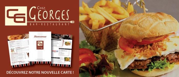 Chez Georges- NOUVELLE CARTE